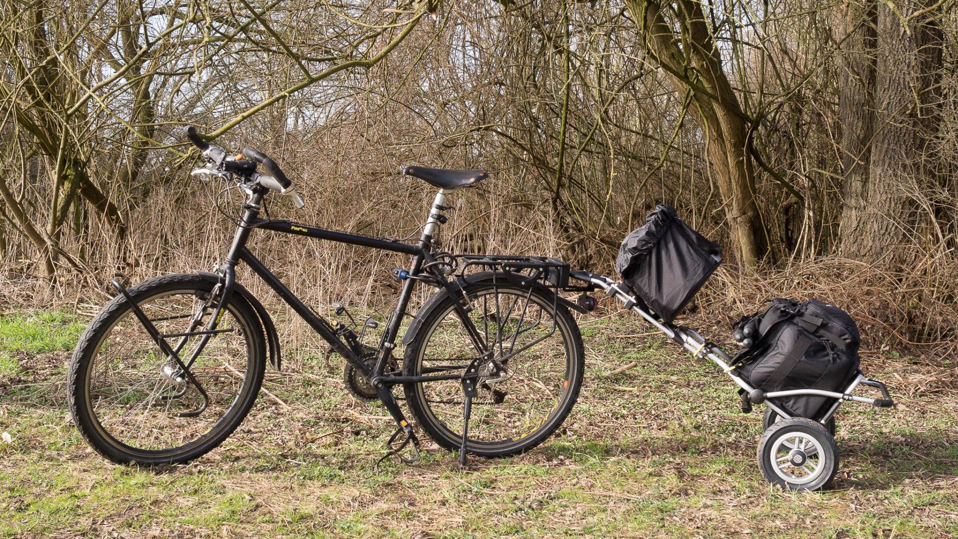 Fahrrad mit Trolley