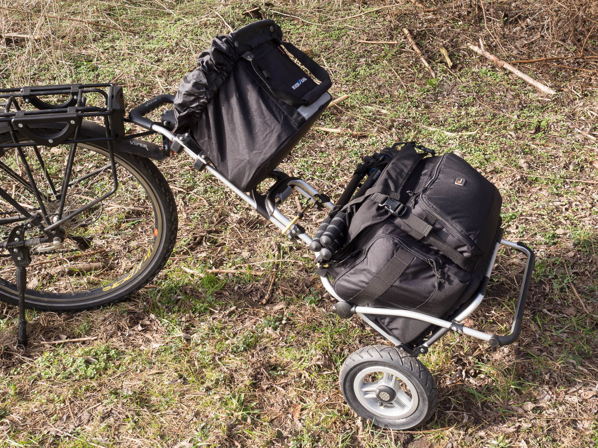 Fototrolley an Fahrradkupplung
